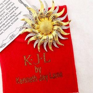KJL Kenneth J Lane SUNFLOWER Pin Pendant